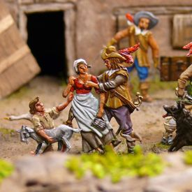 The Thirty Years' War - battlefield - Goslar Tin Figure Museum