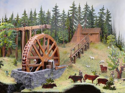 Water wheel and flatrods